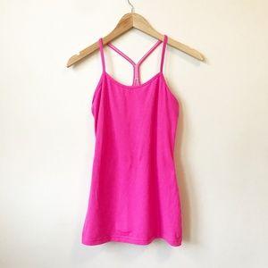 Lululemon Pink Power Y Tank Size 6